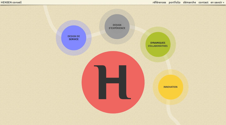 Nouvelle identité visuelle & nouveau site pour HENSEN conseil