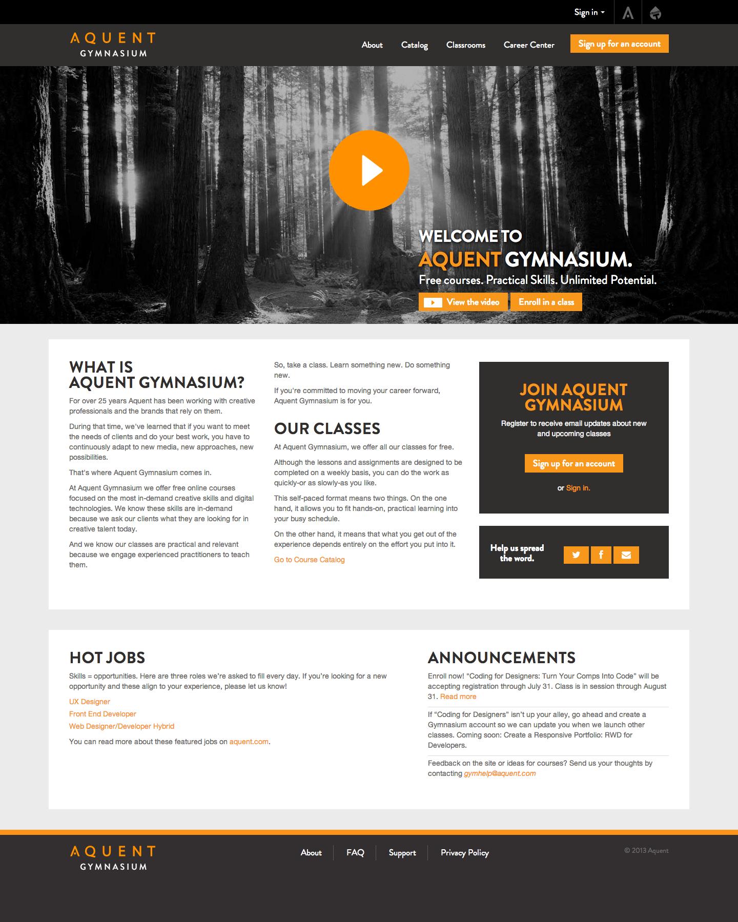 MOOC – Lancement de Gymnasium, la 1ère université en ligne dédiée aux professionnels du design web.