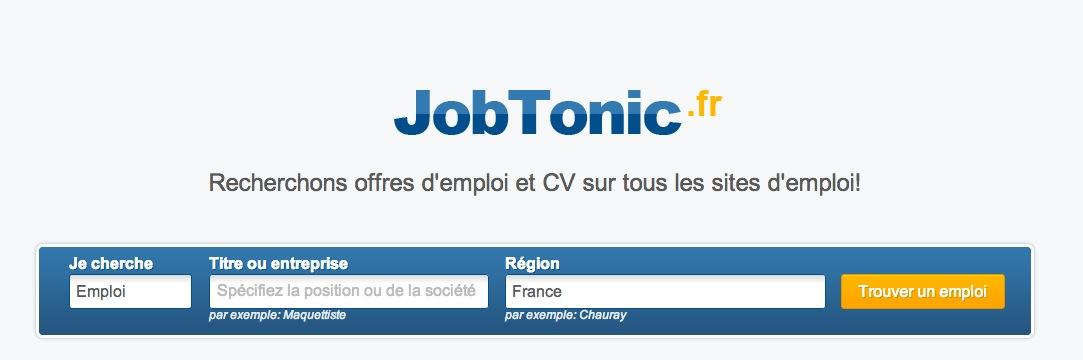 Jobtonic – le meta moteur de recherche d'emploi mis en place par le Forem