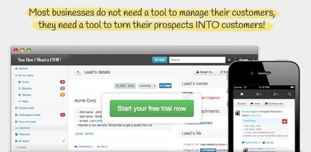 You Don't Need a CRM : Transformez vos prospects en clients !