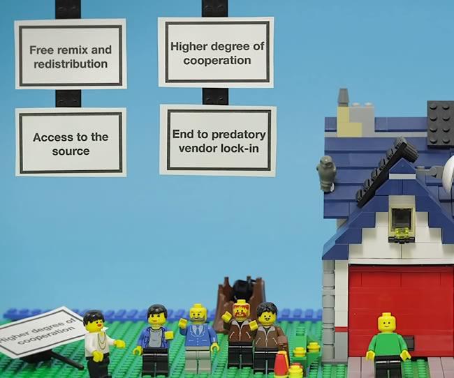 L'open source expliqué en Lego.
