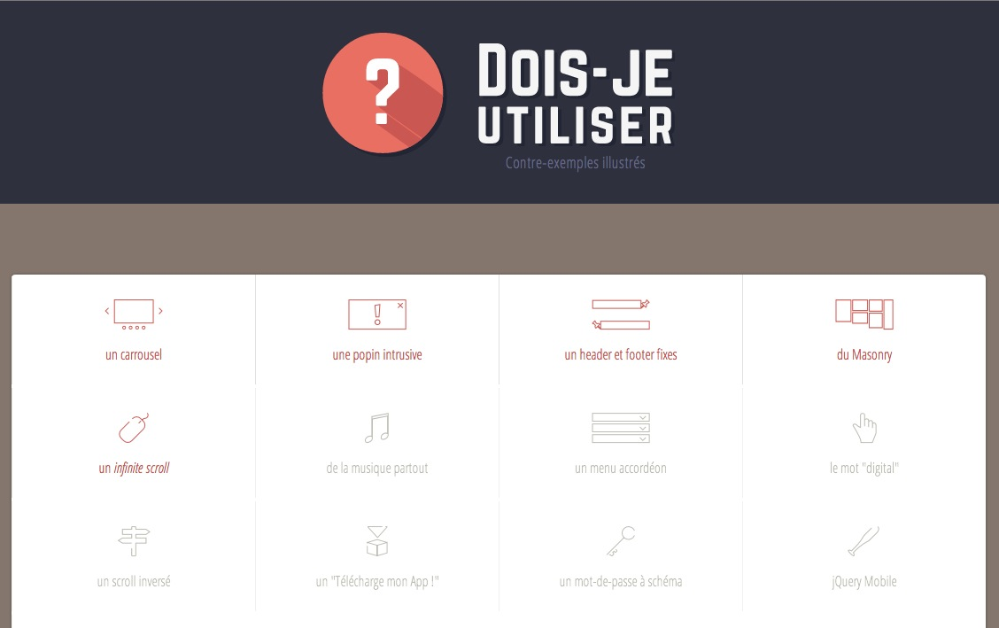 Quels dispositifs d'interaction pour un web-design de qualité ?