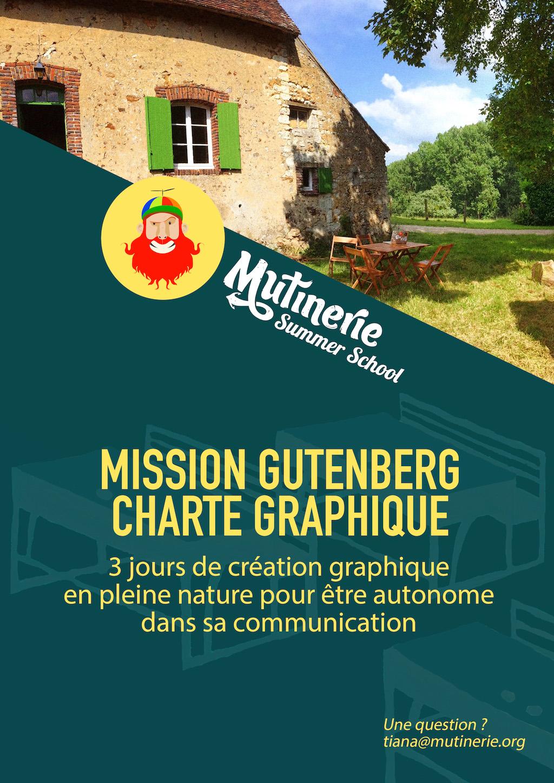 #MissionGutenberg : 3 jours de création graphique pour être autonome dans sa communication.