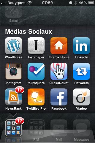 "mon dossier d'apps ""social media"""