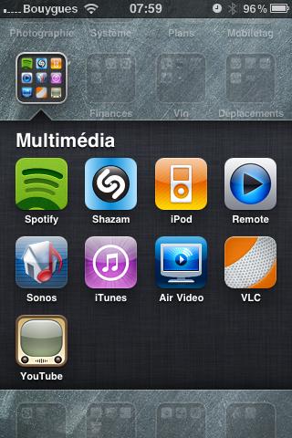 """mon dossier d'apps """"multimédia"""""""