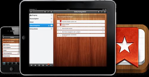 WunderList HD pour iPad
