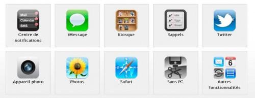 Nouveautés Apple iOS 5