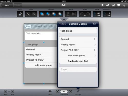 AppCooker - property bar 2