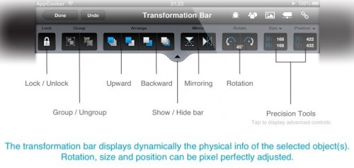AppCooker - transformation bar