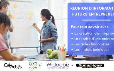 23 mai : Réunion d'information à la création ou reprise d'entreprise